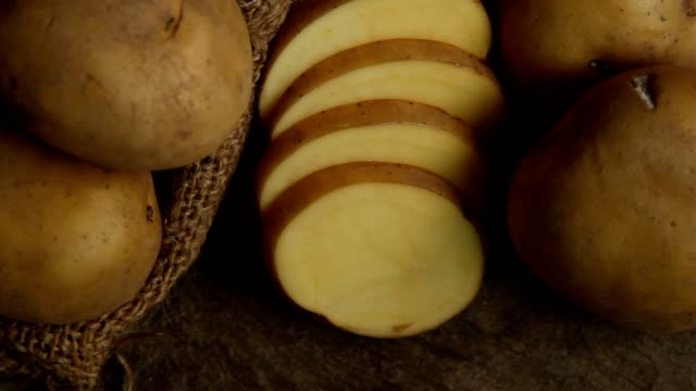 potato sliced - sack stock videos & royalty-free footage