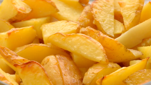 potato slices, baked in the oven