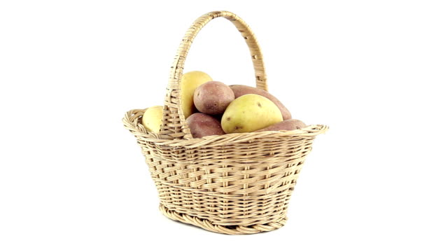 Potatoes in the shopping basket