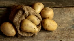 Potatoes prepare for cooking