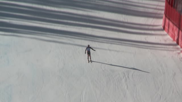 potential american olympians train on the alpine / downhill ski course includes soundbites from katie ryan and brennan rubie of alpine b team... - slalom skiing stock videos & royalty-free footage