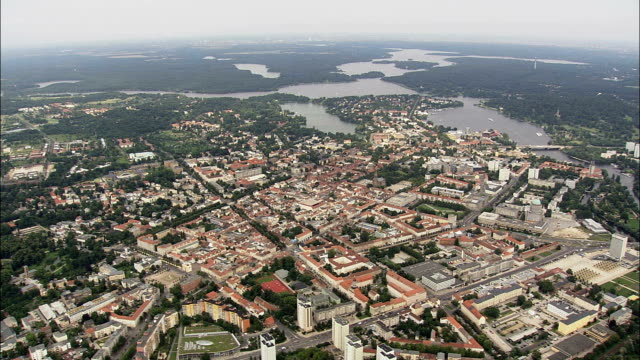 potsdam  - aerial view - brandenburg,  kreisfreie stadt potsdam,  germany - potsdam brandenburg stock videos & royalty-free footage