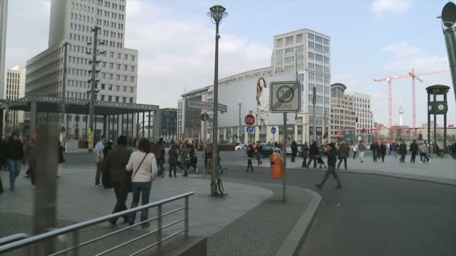 Potsdamer Platz, Berlin, Germany, Tracking shot