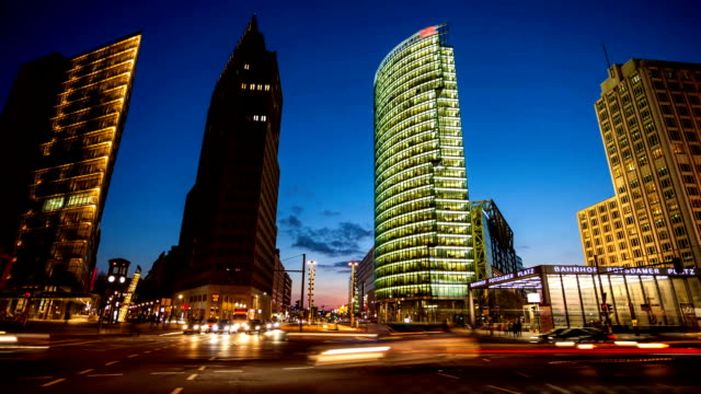 potsdamer platz, berlin - time lapse - berlin stock videos & royalty-free footage