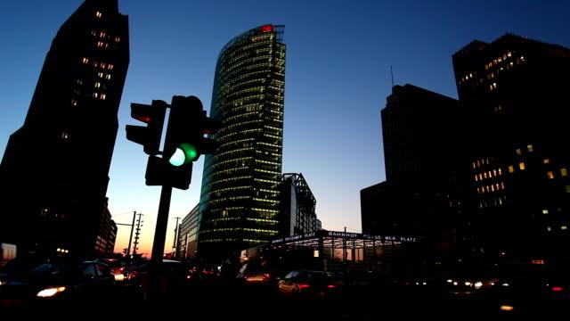 potsdamer platz, berlin - red light stock videos and b-roll footage