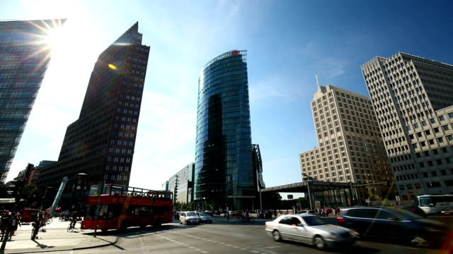Potsdamer Platz in Berlin, time lapse