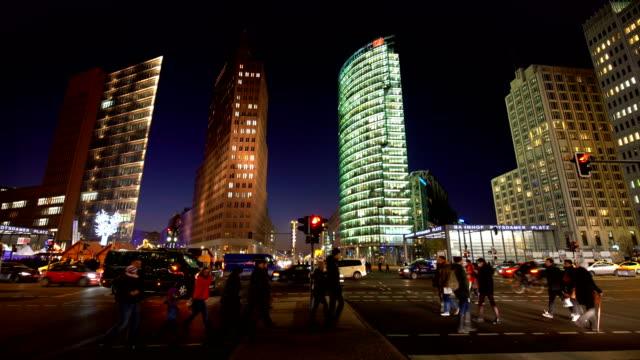 vídeos y material grabado en eventos de stock de potsdamer platz en berlín - centro de berlín