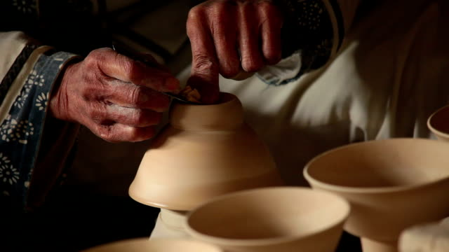 potter at work - porcelain stock videos & royalty-free footage