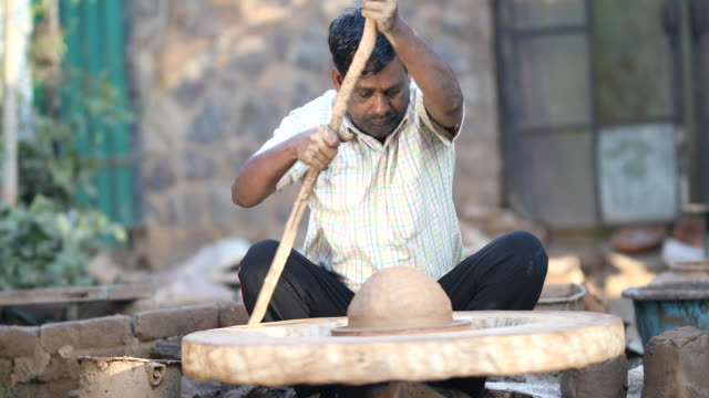potter at work - south asia stock videos & royalty-free footage