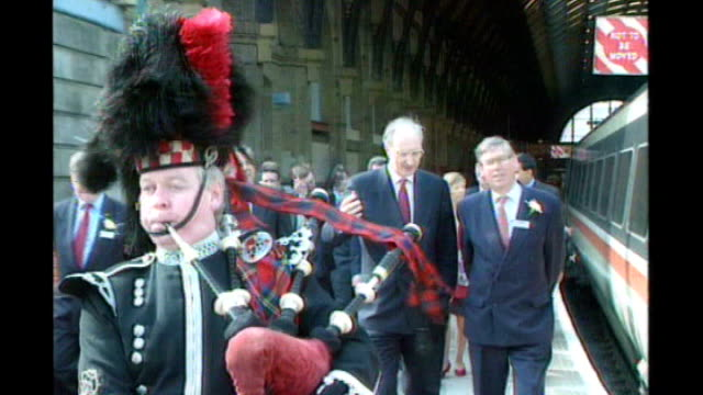 coroner warns that it could happen again tx london kings cross then secretary of state for transport sir george young follows piper in ceremonial... - sir george young politician stock videos and b-roll footage
