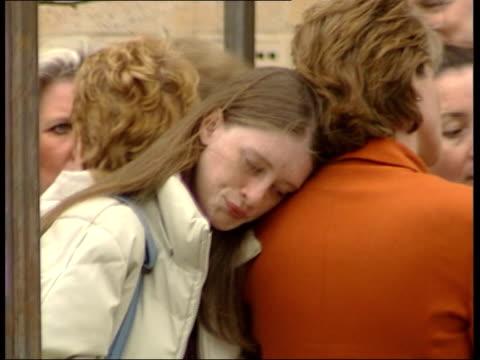 JOYCE OHAJAH ENGLAND Hertfordshire Potters Bar GV Relatives of victims of Potters Bar train crash gathered for memorial service PAN as train passes...
