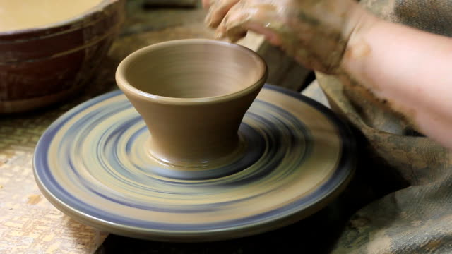 potters wheel - potter's wheel stock videos & royalty-free footage