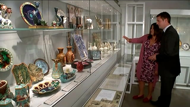 appeal launched to save wedgwood collection england staffordshire stokeontrent wedgwood museum int various shots of wedgwood pots and pottery on... - kiln stock videos and b-roll footage