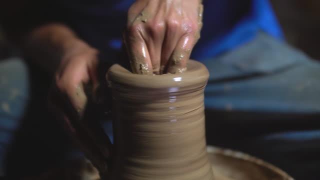 pottery, close-up
