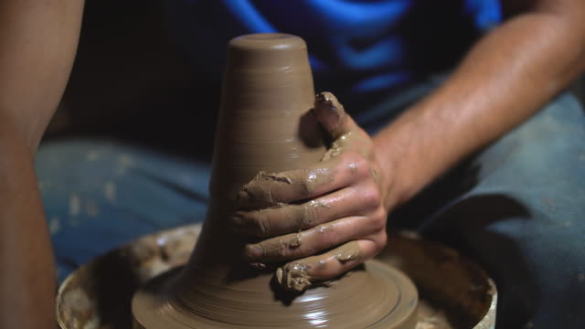 pottery, close-up - potter stock videos and b-roll footage