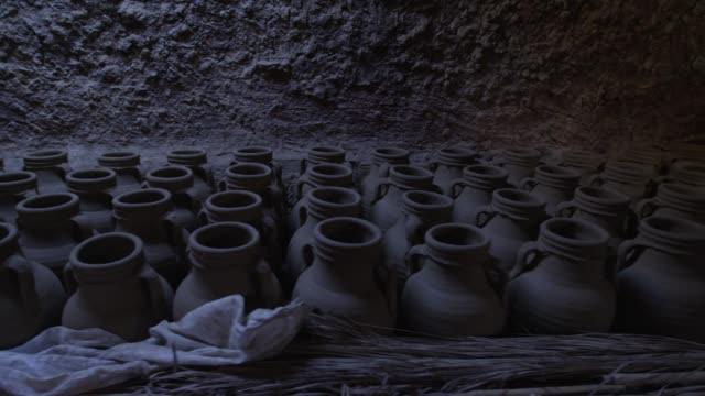 pottery is dried before entering the egyptian kiln - mud stock videos & royalty-free footage