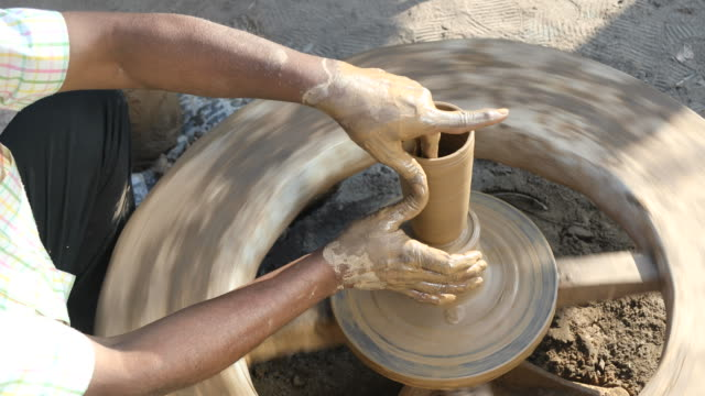 pottery making - south asia stock videos & royalty-free footage