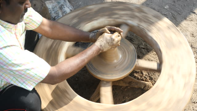 pottery making - potter's wheel stock videos & royalty-free footage