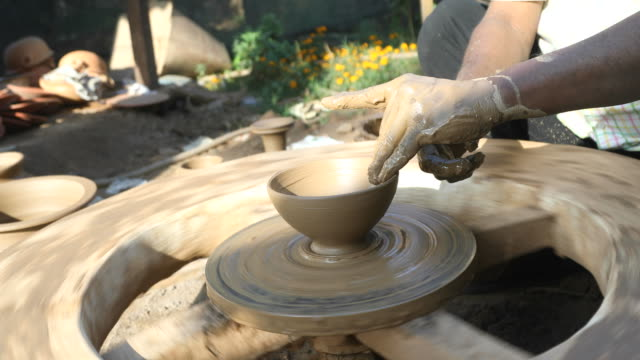 pottery making - potter stock videos & royalty-free footage