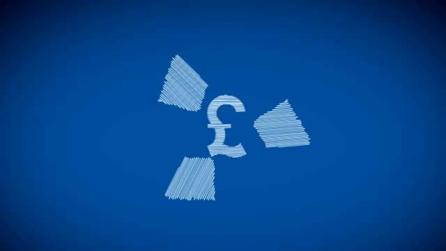 pound recycle - pound sterling symbol stock videos & royalty-free footage