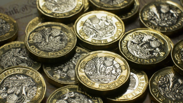 pound sterling coins - money press stock videos and b-roll footage