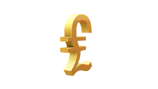 vídeos y material grabado en eventos de stock de símbolo de la libra esterlina - símbolo de la libra esterlina