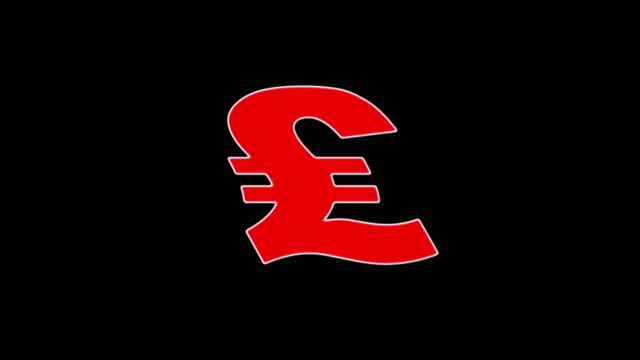 pound symbol waving - british currency stock videos & royalty-free footage