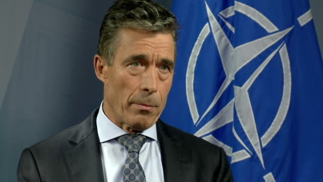 poundland announce sales of one billion pounds; belgium: brussles: int anders fogh rasmussen interview sot - but more a secret operation/ there is no... - no doubt stock-videos und b-roll-filmmaterial