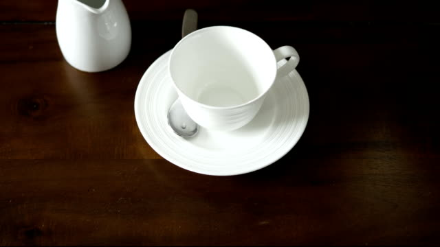 pour english tea - tea cup stock videos & royalty-free footage
