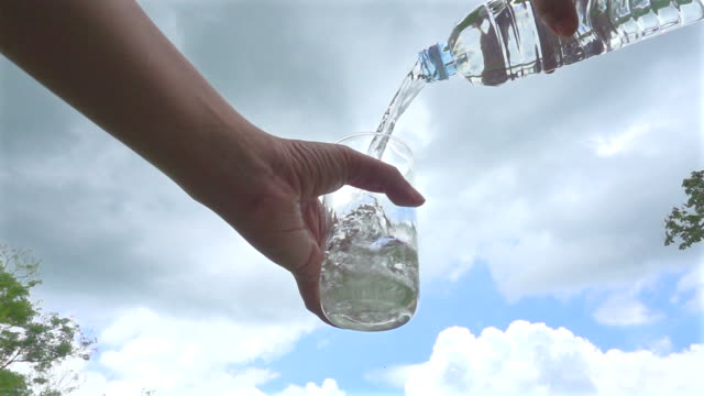 Pour Water In Nature Slow Motion