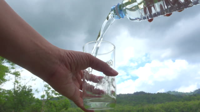 Pour Water In Nature