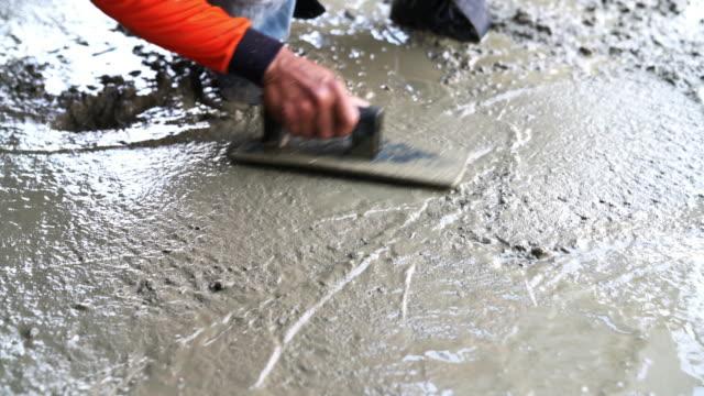 注がれたコンクリートの床 - コンクリート点の映像素材/bロール