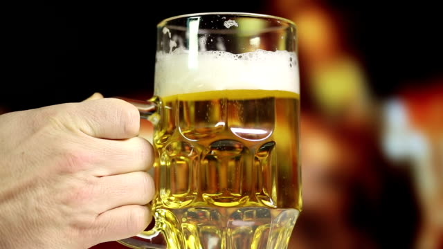 pouring a glass of beer - empty beer glass stock videos and b-roll footage