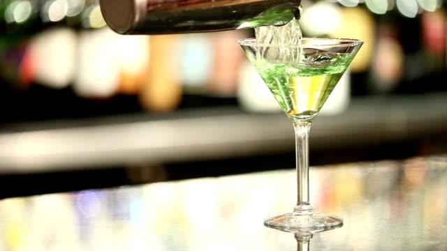 Pouring A Martini