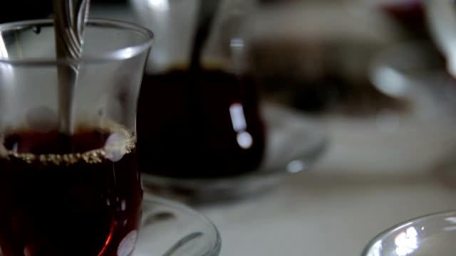 pouring a tea