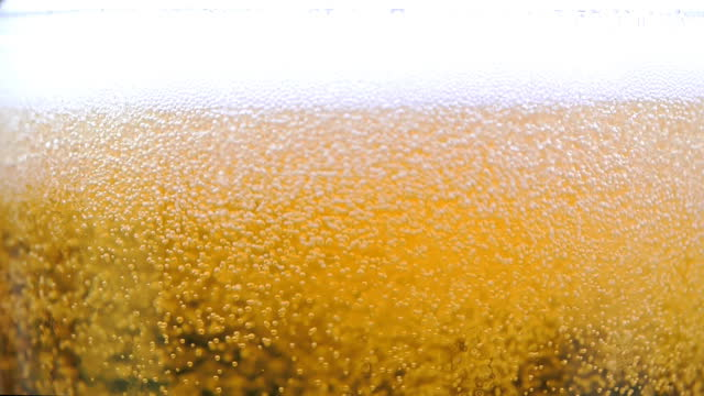 pouring beer into drinking glass slow motion - frothy drink stock videos & royalty-free footage
