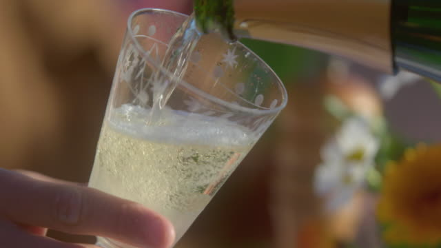 pouring champagne - one mature woman only stock videos & royalty-free footage