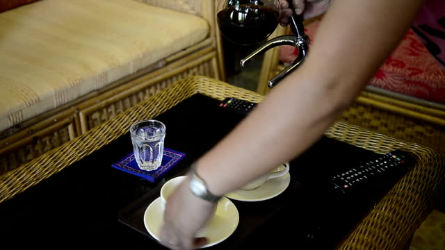 pouring coffee into cup - caffeine molecule stock videos & royalty-free footage