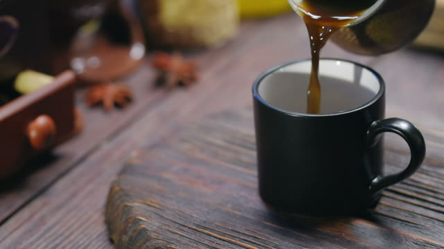 pouring coffee into cup - breakfast stock videos and b-roll footage