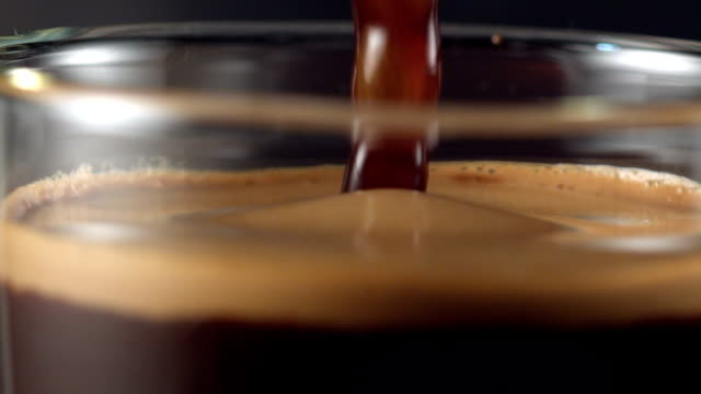 pouring coffee. mixing layers - freshness stock videos & royalty-free footage