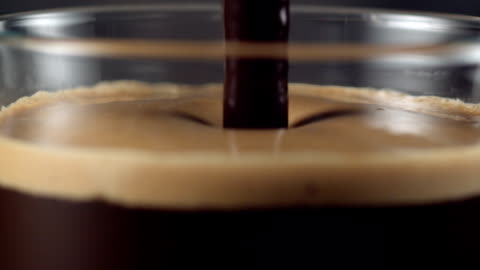 pouring coffee. mixing layers - macro stock videos & royalty-free footage
