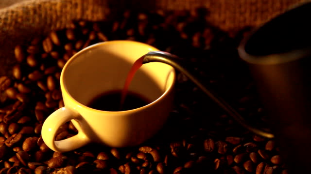 pouring coffee - caffeine molecule stock videos & royalty-free footage