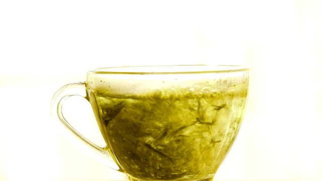 pouring green tea - cup stock videos and b-roll footage