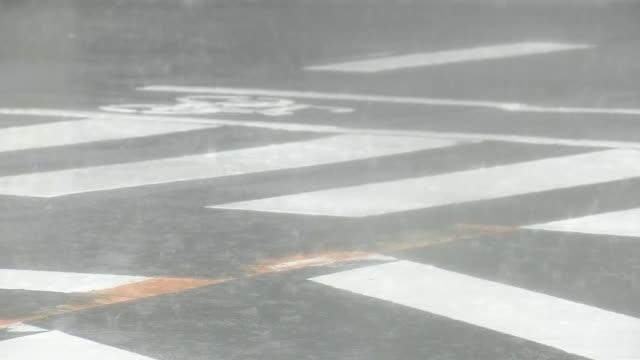 pouring rain beating road, kochi, japan - strength点の映像素材/bロール