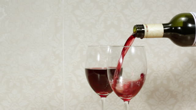 pouring red wine - three objects stock videos & royalty-free footage