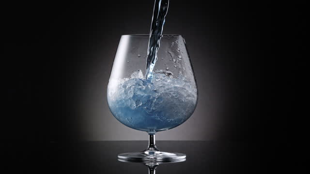 pouring royal blue cocktail on ice - royal blue stock videos & royalty-free footage