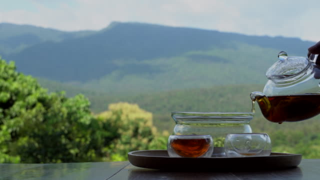 pouring tea - antioxidant stock videos & royalty-free footage