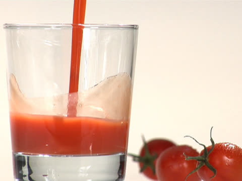 pouring tomato juice into a glass - tomato juice stock videos and b-roll footage