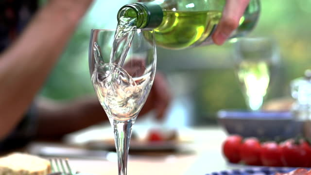 pouring wine      dr - white wine stock videos & royalty-free footage