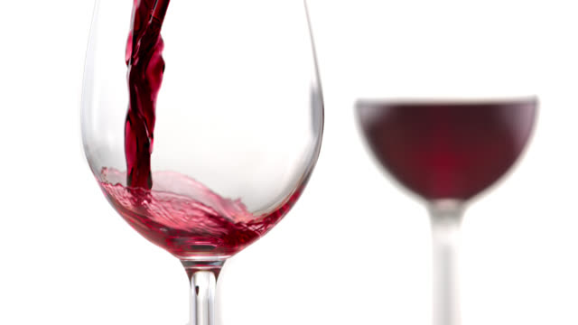slo mo of pouring wine into a glass - wine stock videos & royalty-free footage